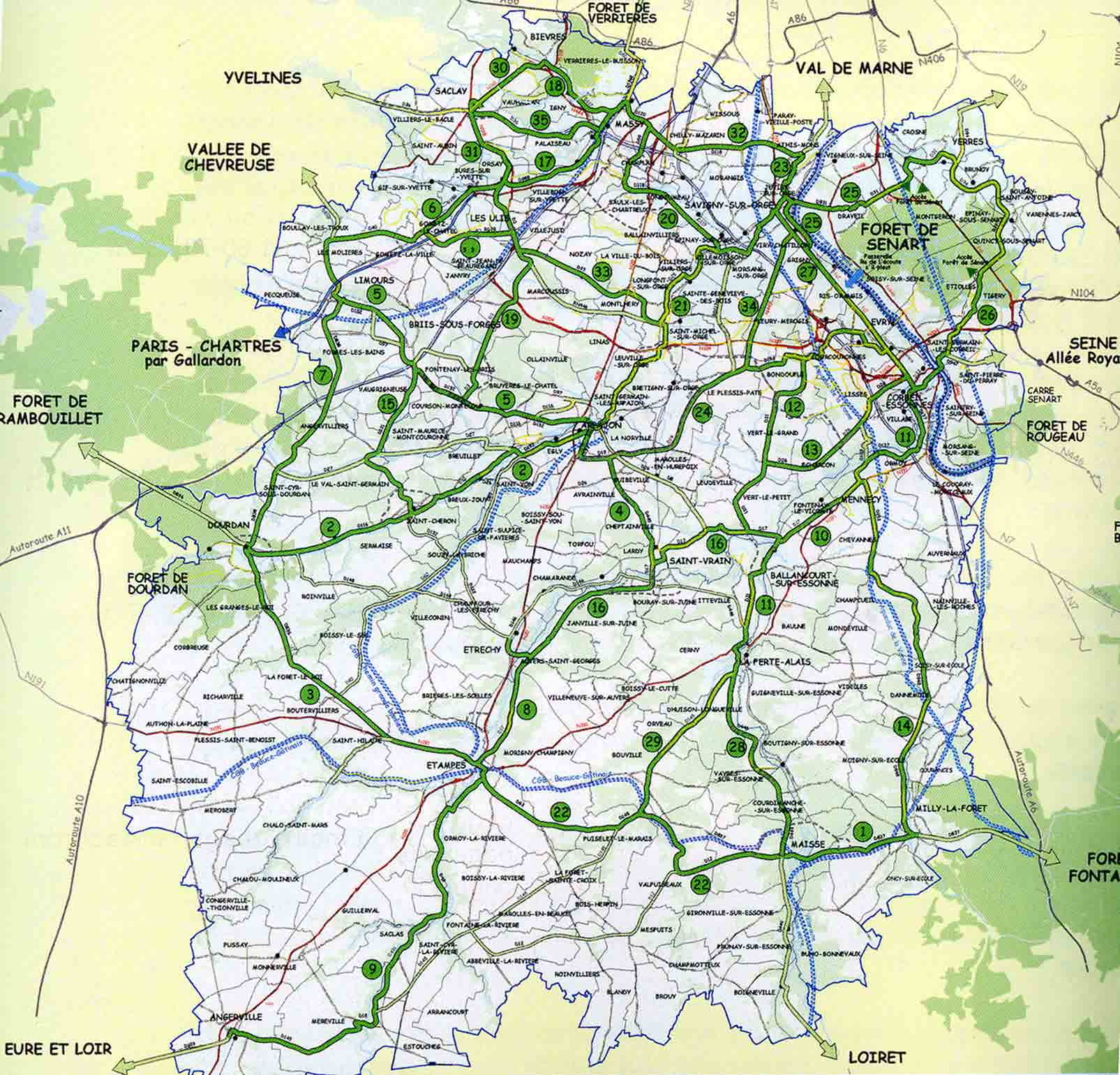 Info carte essonne voyages cartes for Recherche jardinier essonne